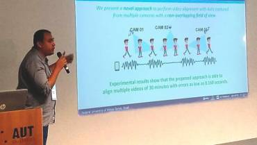 Antonio de Nazare presents a novel method for multiple camera alignment at AVSS 2018